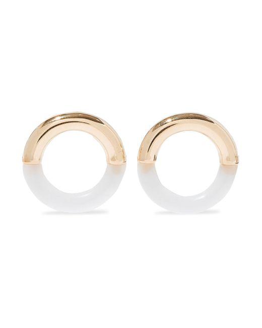 Noir Jewelry - Metallic Lit 14-karat Gold-plated Resin Earrings - Lyst