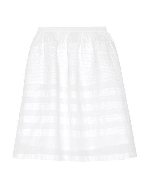 Chinti & Parker | White Pintucked Cotton-voile Skirt | Lyst