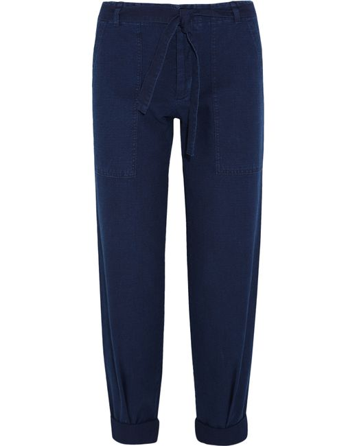 MiH Jeans | Blue Sonoran Cotton-twill Straight-leg Pants | Lyst