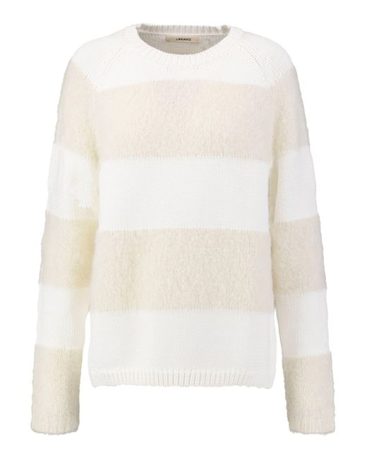 J Brand | White Rodeo Striped Knitted Sweater | Lyst