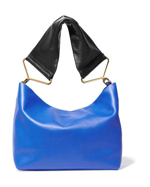 Marni | Blue Maxi Strap Leather Shoulder Bag | Lyst