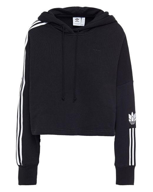 Adidas Originals French Cotton-terry Hoodie Black