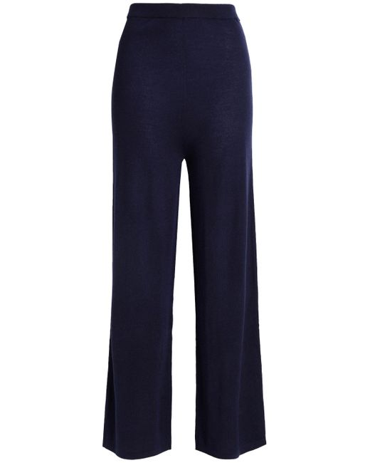 N.Peal Cashmere - Blue Cashmere And Silk-blend Pants - Lyst