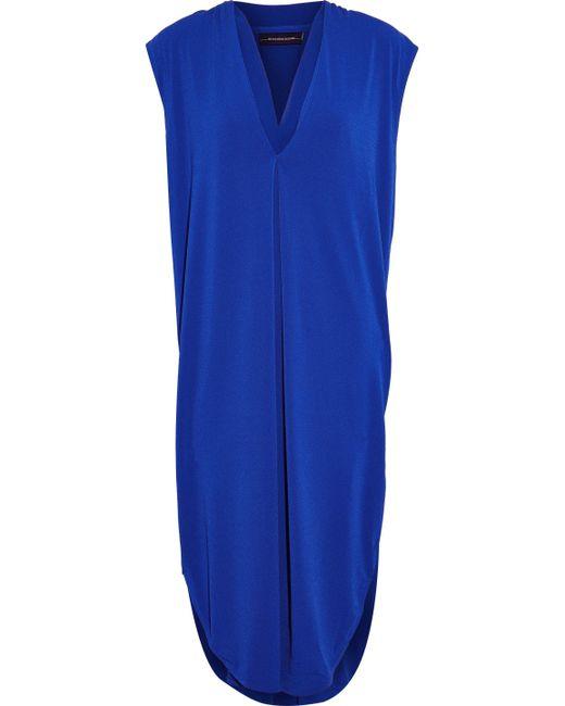 By Malene Birger - Gathered Crepe Dress Royal Blue - Lyst