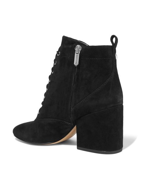 sam edelman tate suede ankle boots in black save 48 lyst