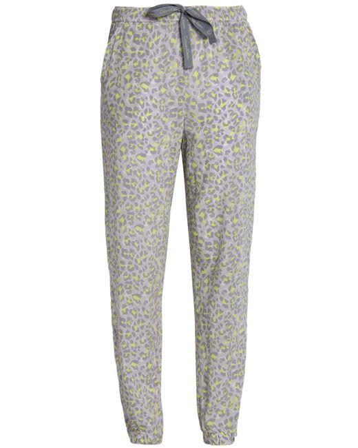 Calvin Klein - Gray Leopard-print Jersey Pajama Pants - Lyst