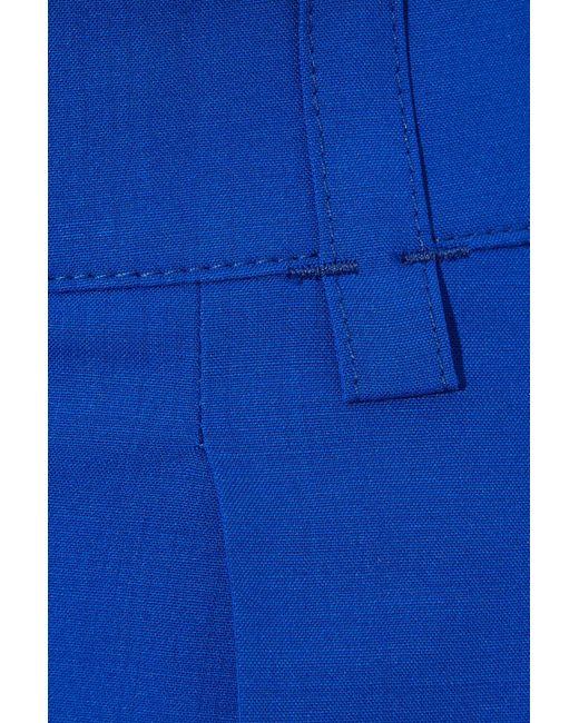f3e8c9ba89975 Lyst - Agnona Woman Pleated Wool Wide-leg Pants Bright Blue in Blue