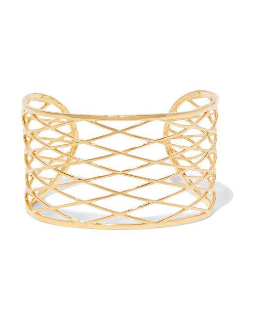 Noir Jewelry | Metallic Raveled Gold-tone Cuff | Lyst