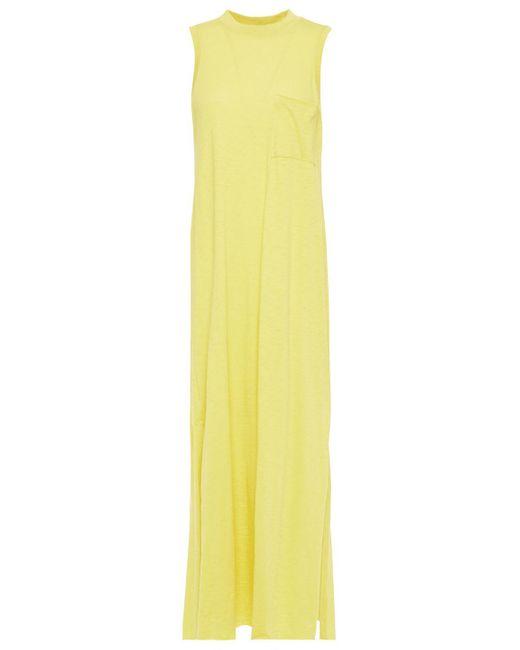 ATM Pima Cotton-jersey Midi Dress Pastel Yellow