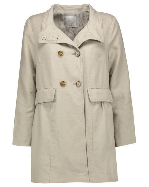 Joie | Natural Costela Cotton And Linen-blend Jacket | Lyst