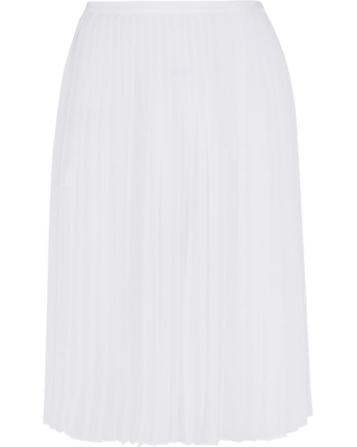 dkny pleated chiffon skirt in white save 50 lyst