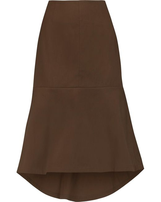 Marni | Brown Flared Cotton Skirt | Lyst