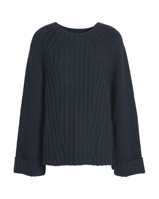 Vince - Blue Ribbed Wool And Cashmere-blend Sweater - Lyst