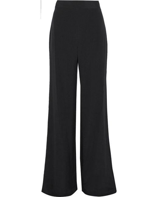 Marchesa Cady Wide-leg Pants Black