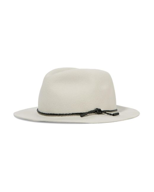 Rag & Bone | Natural Abbott Leather-trimmed Wool-felt Fedora | Lyst
