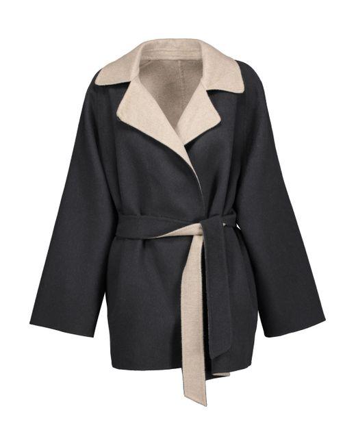 Max Mara | Gray Two-tone Wool And Angora-blend Felt Coat | Lyst