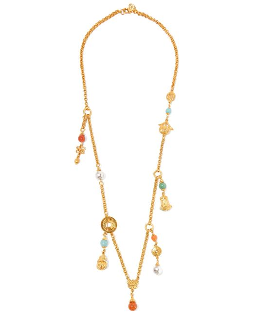 Ben-Amun | Metallic Gold-tone Beaded Necklace | Lyst