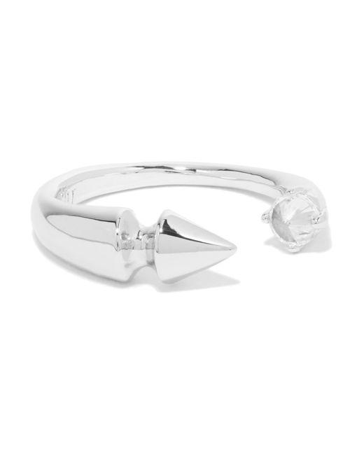 Noir Jewelry   Metallic Silver-tone Crystal Ring   Lyst