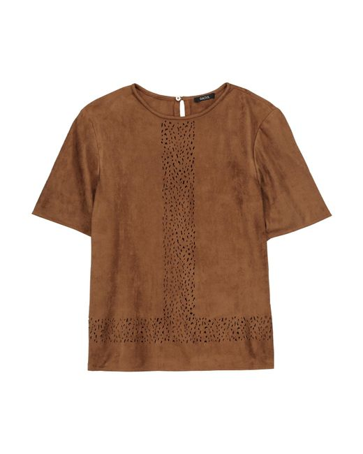 Raoul | Brown Ambra Laser-cut Suede Top | Lyst