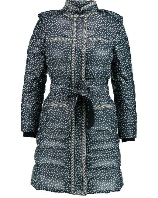 Tory Burch | Blue Rea Printed Shell Coat | Lyst