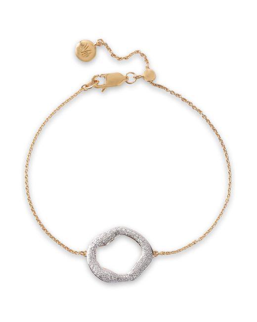 Monica Vinader Metallic Riva 18-karat Gold-plated Sterling Silver Diamond Bracelet Gold