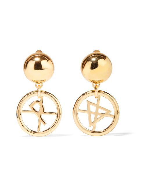 Moschino | Metallic Gold-tone Earrings | Lyst