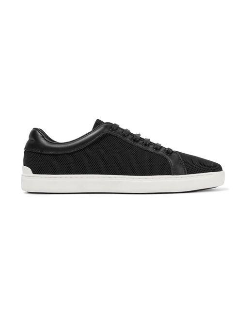 Rag & Bone   Black Kent Leather-trimmed Mesh Sneakers   Lyst