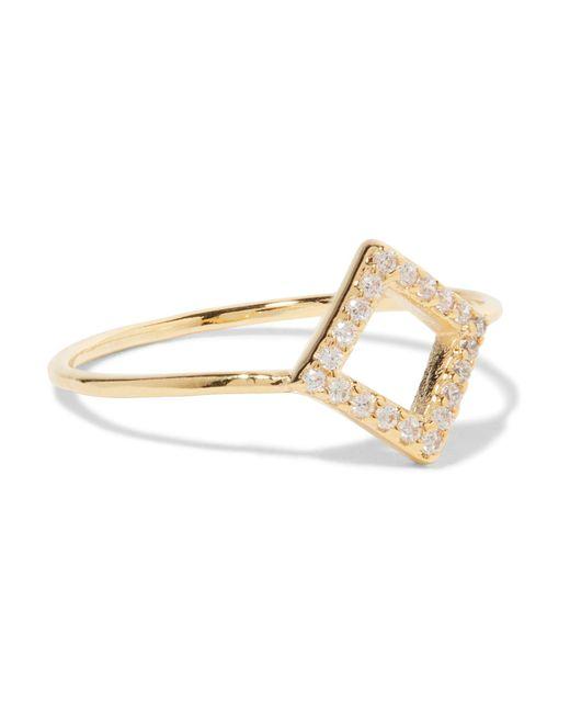 Noir Jewelry | Metallic Gold-tone Crystal Ring | Lyst