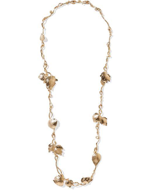 Aurelie Bidermann | Metallic Gold-plated Necklace | Lyst