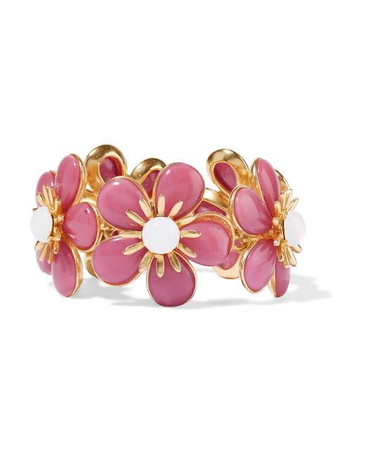 Ben-Amun | Pink Gold-plated Resin Bracelet | Lyst