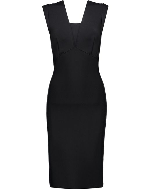 Roland Mouret | Black Pixie Stretch-bandage Dress | Lyst