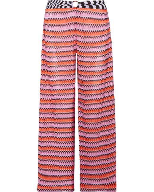 Missoni - Red Mare Cropped Crochet-knit Wide-leg Pants - Lyst