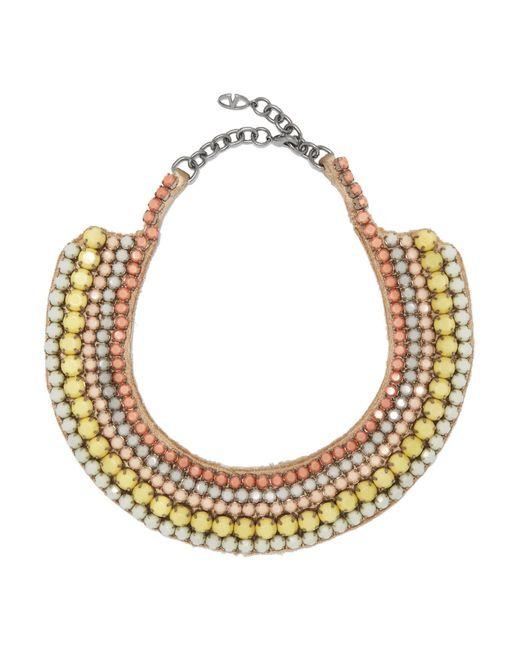 Valentino   Metallic Silver-tone Beaded Necklace   Lyst