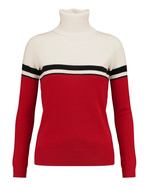 Madeleine Thompson | White Vidos Intarsia Wool And Cashmere-blend Turtleneck Sweater | Lyst