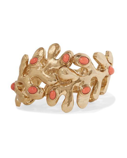 Oscar de la Renta | Metallic Sea Tangle Gold-tone Resin Bracelet | Lyst