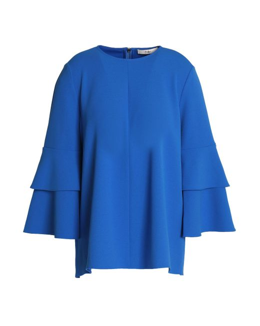 Cheap Sale Store Purchase Sale Online Milly Woman Fluted Stretch-silk Peplum Top Cobalt Blue Size 8 Milly Discount Latest Footaction For Sale PKuxM3Q