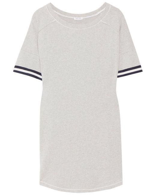 Splendid   Gray Varsity Active Cotton And Modal-blend Jersey Mini Dress   Lyst