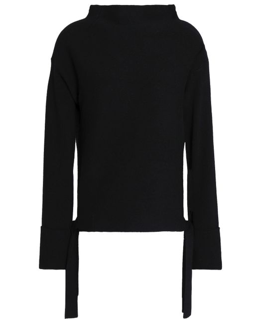 Duffy - Black Color-block Wool And Cashmere-blend Sweater - Lyst