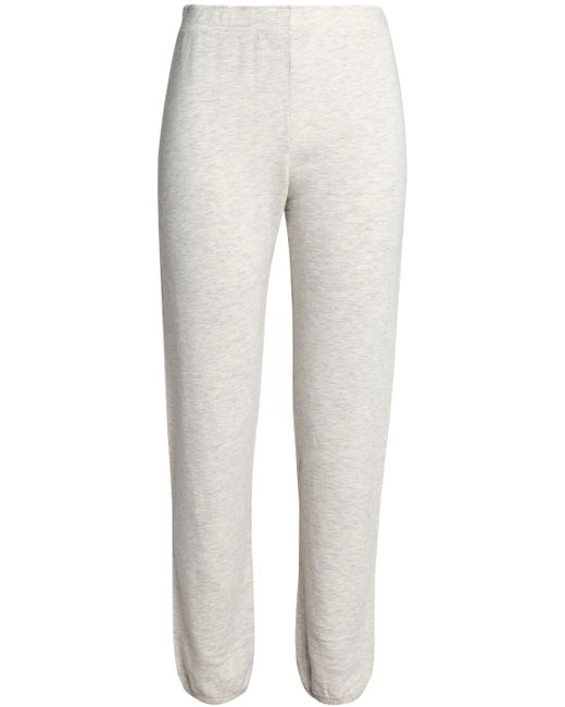 Monrow - Mélange French Cotton-blend Terry Track Pants Light Gray - Lyst