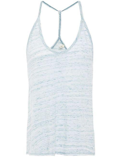 Lanston Mélange Cotton And Modal-blend Jersey Camisole Sky Blue