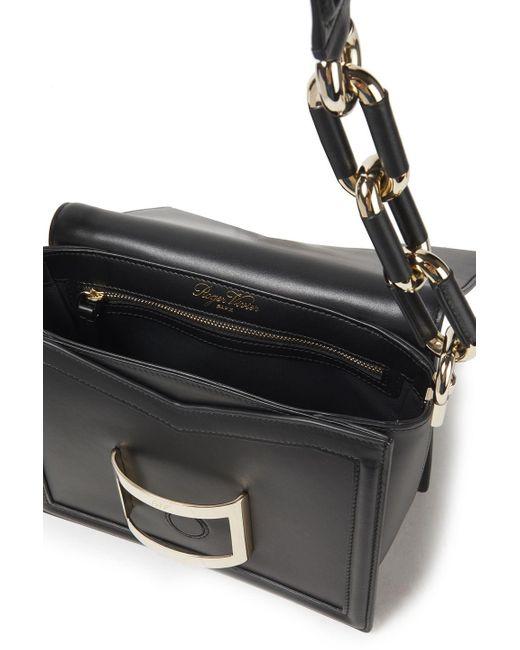 Roger Vivier Bow-detailed Leather Shoulder Bag Black