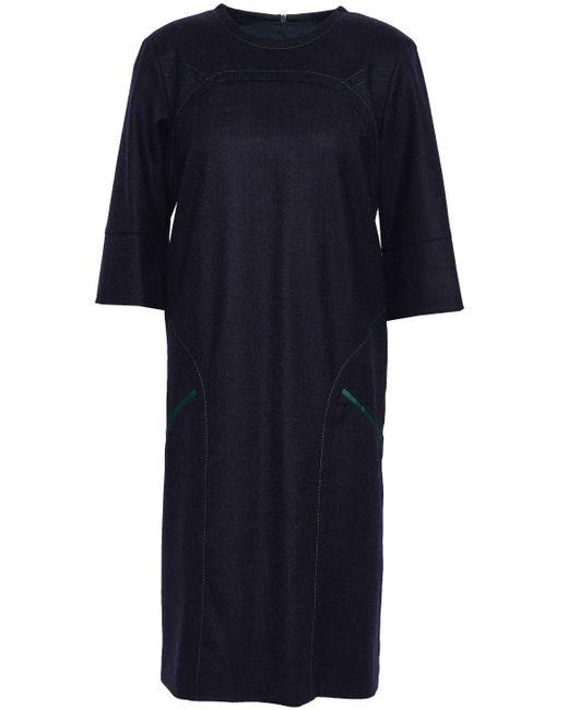 Piazza Sempione Blue Wool-blend Dress Navy