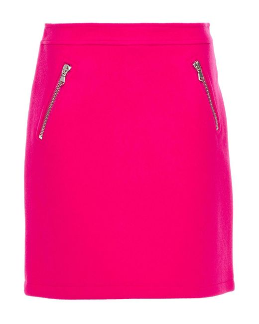 Moschino Pink Wool-blend Felt Mini Skirt