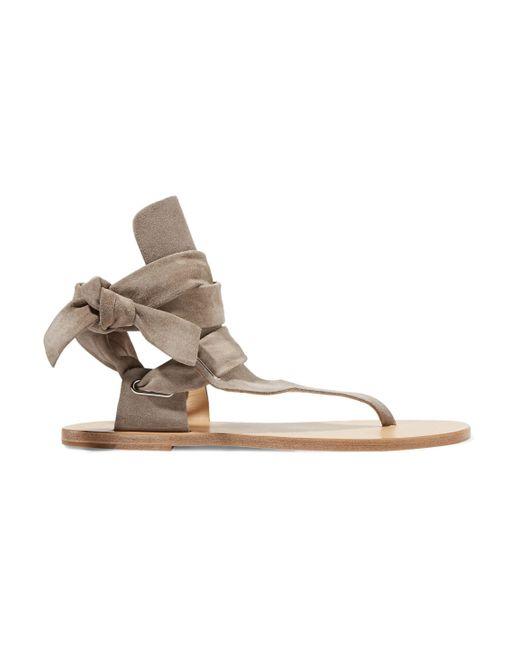 Rag & Bone - Gray Mara Suede Sandals - Lyst