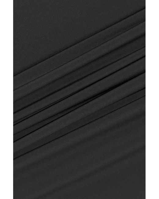 24cad61c3 ... Rick Owens - Woman Pillar Split-back Stretch-shell Pencil Skirt Dark  Gray -