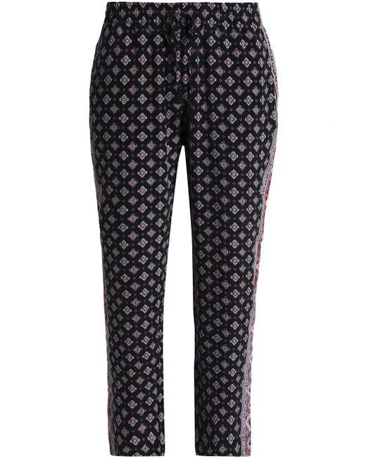 Joie - Woman Printed Silk Straight-leg Pants Black - Lyst