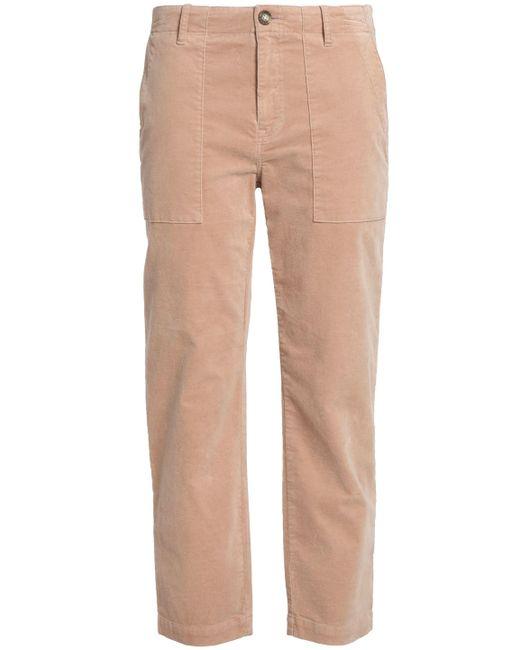 Joie - Multicolor Cropped Velvet Mid-rise Slim-leg Pants - Lyst