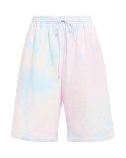 MM6 by Maison Martin Margiela Tie-dyed French Cotton-terry Shorts Pastel Pink