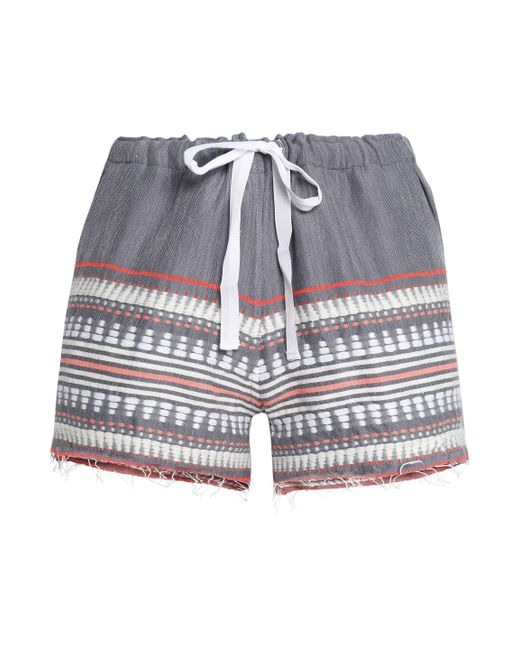 Lemlem - Gray Embroidered Cotton-blend Shorts - Lyst
