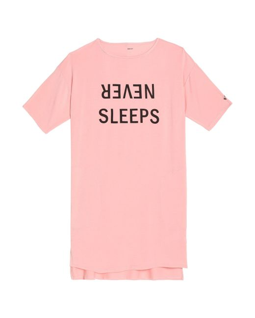 DKNY - Pink Printed Modal-blend Jersey Nightdress - Lyst